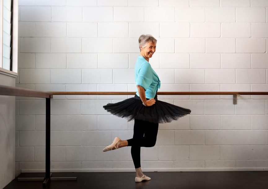Senior Jeanette Thomas is a 75-year-old ballerina from the Sunshine Coast, Queensland.