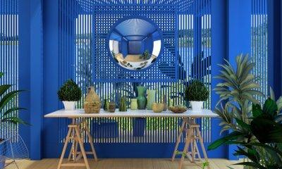 The jungle theme is popular in interior design in 2017