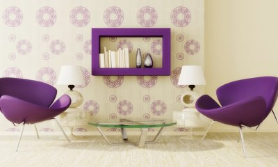 Pantone's Colour of the Year for 2018, Ultra Violet, in interior design