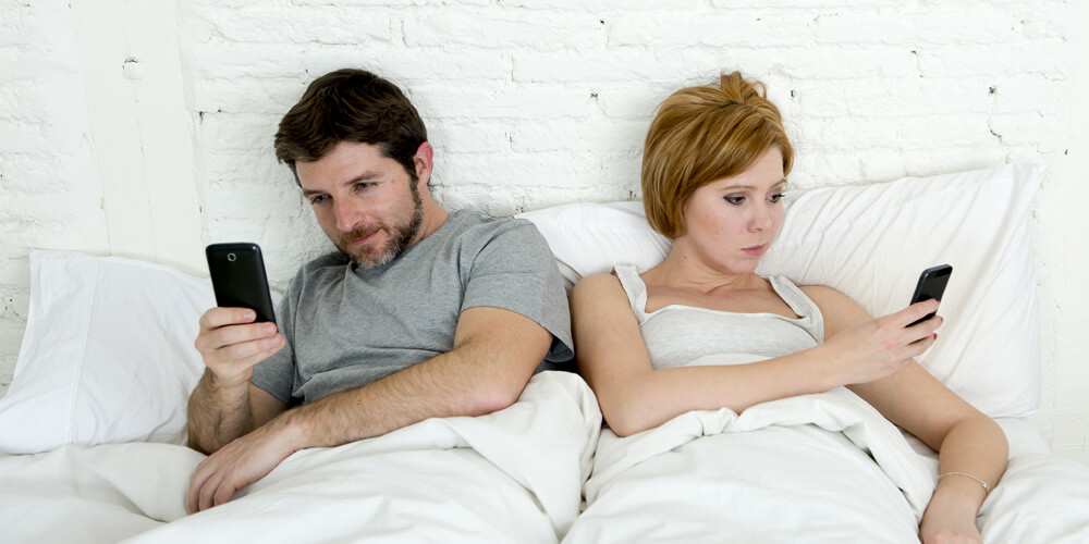 Smart phones are impacting on relationships.