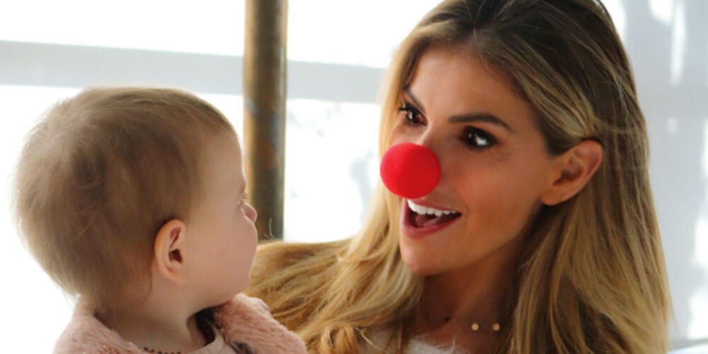 Australian model Laura Csortan is an ambassador for Red Nose Day, which aims to reduce unexpected deaths of infants and children