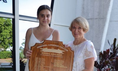 Immaunel Lutheran College graduate the first to win two Vic Walker awards.