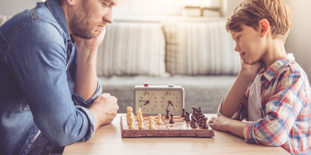 Richard O'Leary faces the fact his son can now beat him at chess, but takes solace in the fact he can still hold his own in a game of handball.