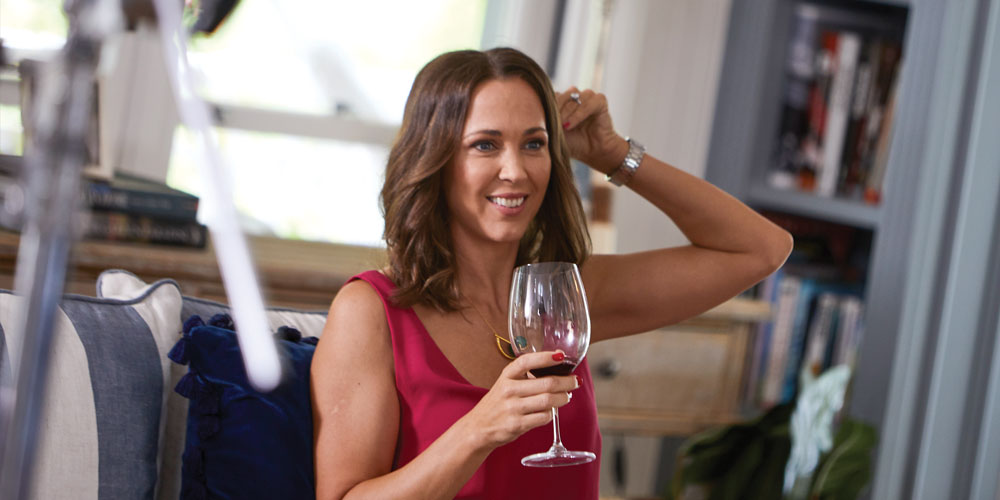 Bec Hewitt is back in front of the cameras for a TV project that has brought her and her talented co-stars to the Sunshine Coast.