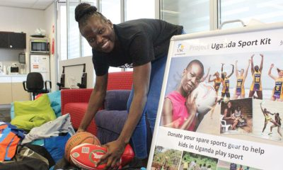 Netballer Peace Proscovia is on a mission to send much-needed sports equipment to Ugandan children and teenagers.