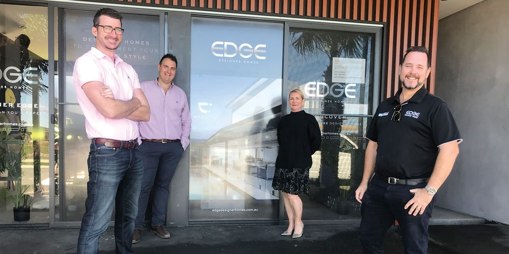Duncan Corness (AVID), Anthony Demiris, Karen Daley, and Simon Mullins (Edge)