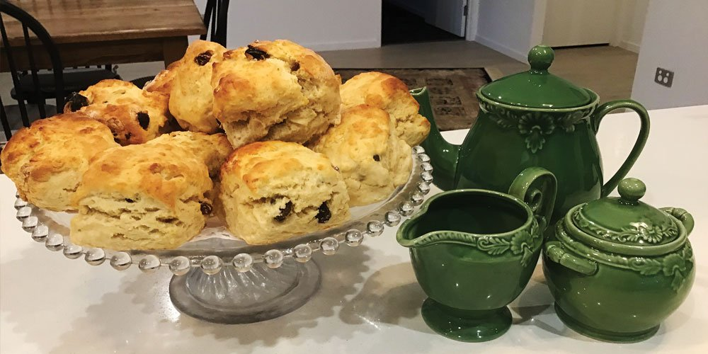 "Reader Sonya says, ""I have been making these for years and always get lots of compliments for them. They are absolutely the easiest scones to bake ever and always turn out perfect. With only three ingredients to buy, you can't go wrong!"""