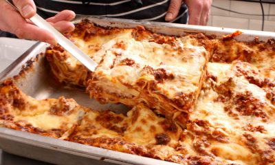 Dad Andrew says after buying store-bought lasagne, he decided to make a homemade one to please his family.