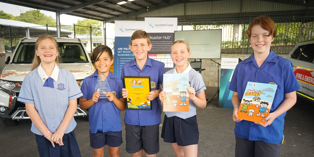 Local students lead the way in getting ready for storm season – and this year is predicted to be a wet one.
